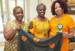 Black women smiling