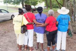 women in back view